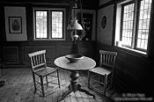 Travel photography:Interior of restored 18th century house in Molfsee open air museum, Germany