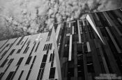 Travel photography:Modern facade in Budapest, Hungary
