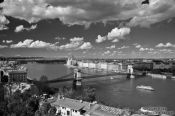 Travel photography:Panoramic view of Budapest with Parliament and Chain Bridge, Hungary