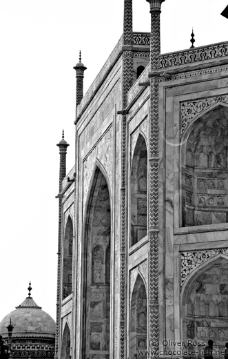 Taj Mahal Mausoleum in Agra