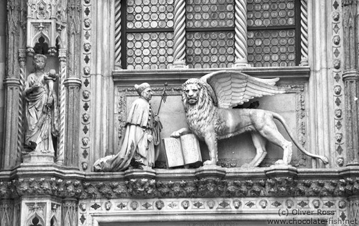 The Venetian Lion above the entrance to San Marco Palace