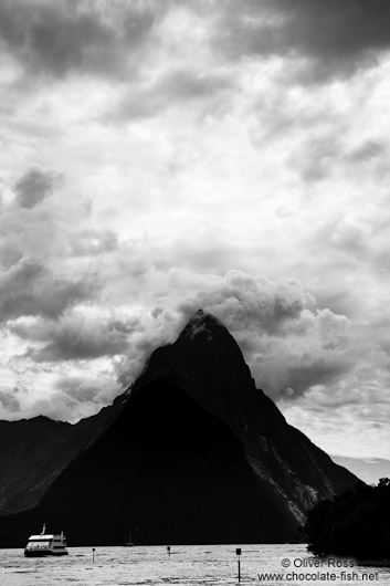 Mitre peak in Milford Sound, Fiordland National Park