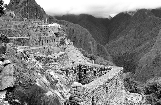 Machu Picchu houses and valley