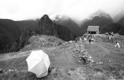 Travel photography:Umbrella with Machu Picchu, Peru