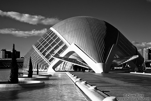 View of the Hemispheric in the Ciudad de las artes y ciencias in Valencia