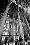 Travel photography:Barcelona Sagrada Familia interior, Spain