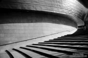 Travel photography:Staircase at the Bilbao Guggenheim Museum, Spain