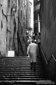 Travel photography:Staircase in Edinburgh´s old town, United Kingdom