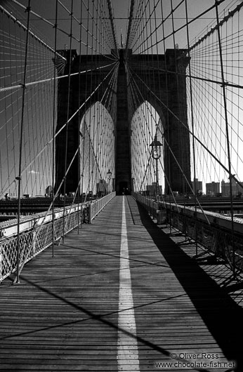 schwarz wei new york new york brooklyn bridge chocolate fish photos. Black Bedroom Furniture Sets. Home Design Ideas