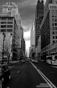 Travel photography:New York`s New Yorker with Empire State Building, USA