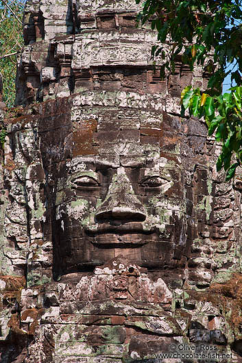Stone face above the North Gate at Angkor Thom