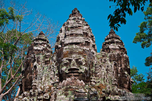 Faces atop the North Gate in Angkor Thom