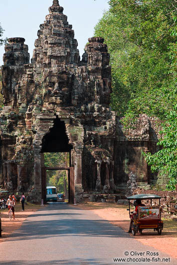 The Victory Gate at Angkor Thom