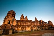 Travel photography:The early morning sun on Angkor Wat , Cambodia