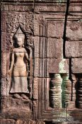 Travel photography:Stone reliefs at Banteay Kdei , Cambodia