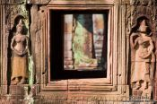 Travel photography:Window on the outside of Banteay Kdei , Cambodia