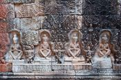 Travel photography:Stone relief at Preah Khan , Cambodia