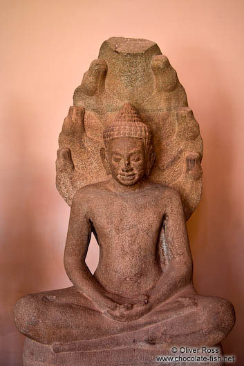 Sitting buddha sculpture at the Phnom Penh National Museum