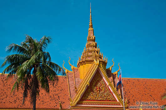 Roof detail of the Royal Palace in Phnom Penh