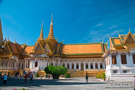 The Throne Hall at the Royal Palace in Phnom Penh