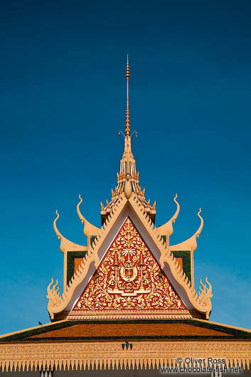 Roof detail of the Phnom Penh Royal Palace
