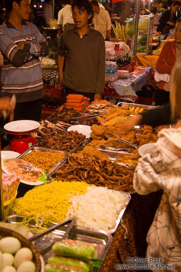 Food stall at the Phnom Penh night market