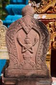 Travel photography:Relief at a temple in Phnom Penh, Cambodia