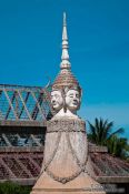 Travel photography:Four-faced stupa at a temple in Phnom Penh, Cambodia