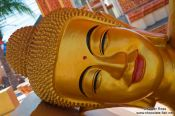 Travel photography:Smiling Buddha at a temple in Phnom Penh, Cambodia