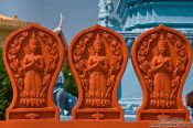 Travel photography:Detail of a temple in the south of Phnom Penh, Cambodia
