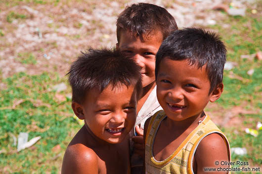 Three boys between Sihanoukville and Kampott