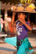 Travel photography:Fruit vendor at Serendipity beach in Sihanoukville , Cambodia