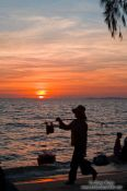 Travel photography:Sunset at Sihanoukville´s Serendipity beach, Cambodia