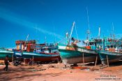 Travel photography:Ship yard at Sihanoukville´s Fishing Port , Cambodia