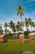Travel photography:Tourist accommodation on Kaoh Ruessel (Bamboo Island) near Sihanoukville, Cambodia