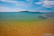 Travel photography:View of Kaoh Ruessel (Bamboo Island) in the distance from Kaoh Ta Kiev Island , Cambodia