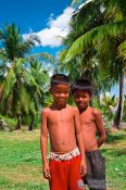 Travel photography:Two boys between Sihanoukville and Kampott , Cambodia
