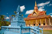 Travel photography:Temple and stupa along the road from Sihanoukville to Kampott , Cambodia