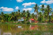 Travel photography:Houses between Sihanoukville and Kampott , Cambodia
