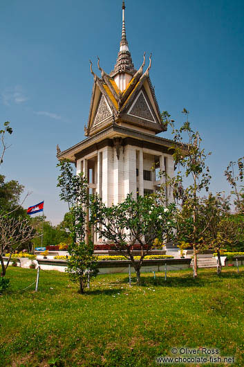 Memorial stupa at the Killing Fields in Choeung Ek