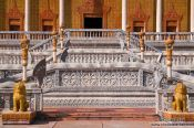 Travel photography:Temple stairs at the Vipassara Dhara Buddhist Centre near Odonk (Udong), Cambodia