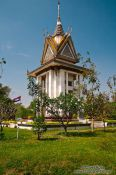 Travel photography:Memorial stupa at the Killing Fields in Choeung Ek, Cambodia