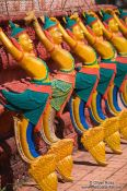 Travel photography:Decorative figures at a temple near Odonk (Udong) , Cambodia