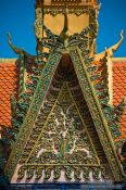 Travel photography:Gable of a temple near Odonk (Udong) , Cambodia