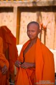 Travel photography:Buddhist monk novice at a temple near Odonk (Udong) , Cambodia