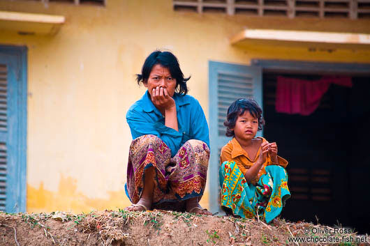 Mother with child near Battambang