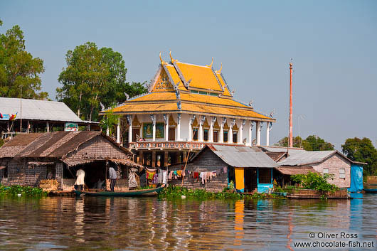Temple on stilts near Tonle Sap lake