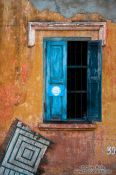 Travel photography:House and window in Battambang, Cambodia