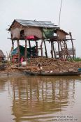 Travel photography:Stilt house along the Stung Sangker river near Battambang, Cambodia