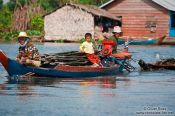 Travel photography:Boat near Tonle Sape lake, Cambodia